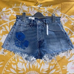 LEVIS Made & Crafted High Rise Western Fray Short